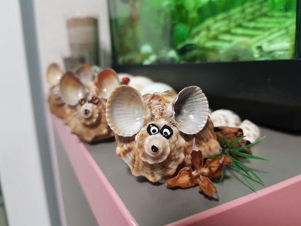Подарки. Сувениры. Поделки из ракушек. Мышь. Символ 2020.