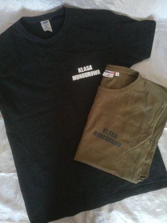 Koszulka khaki i czarna
