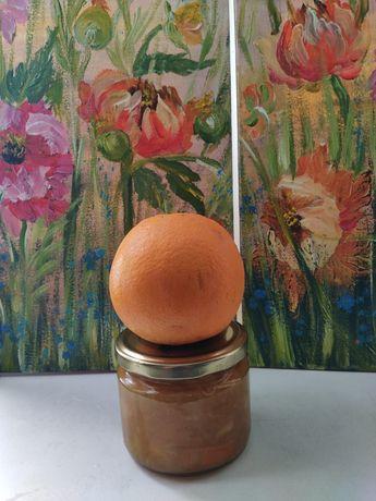 Апельсиновый сок и варенье натуральное