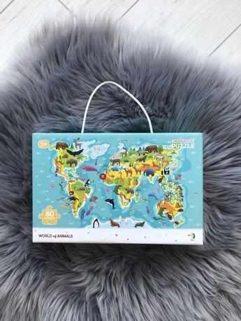 Пазл карта мира Dodo новый запечатанный