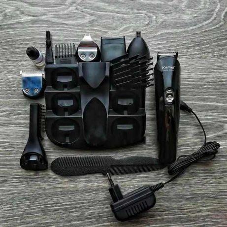 Профессиональна машинка для стрижки волос KM-600 Kemei 11 в 1
