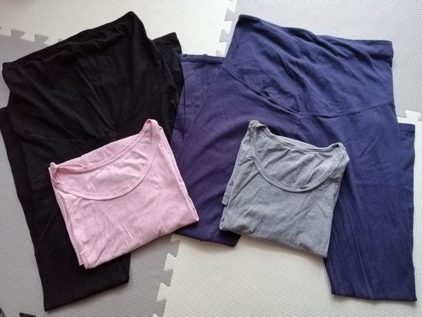 Spodnie leginsy ciążowe i bluzki h&m