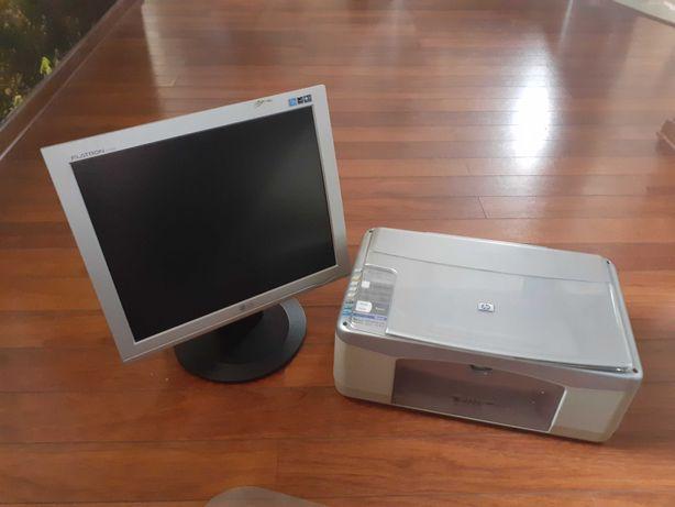 Monitor LG 17 cali +urządzenie drukujące HP