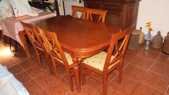 Mesa de Cerejeira e 6 cadeiras