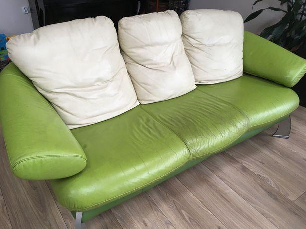 Sofa 3 os. kanapa kler skora naturalna