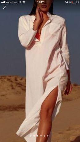 Белая платье туника