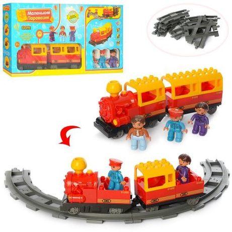 Железная дорога Конструктор Поезд с рельсами Паровозик Игрушка