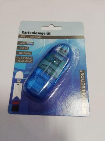 Adapter USB czytnik kart SD MMC - nowy, tanio