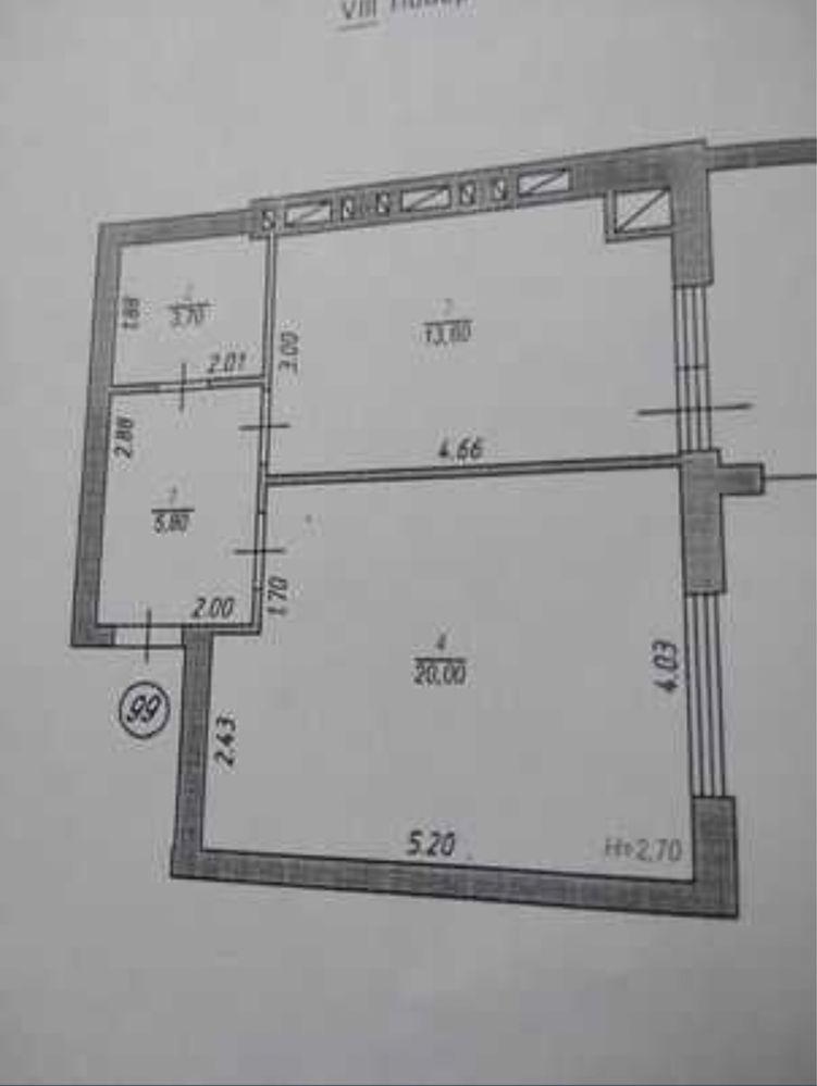 Продам 1-к новобудову у зданому будинку