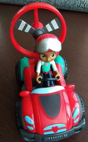 Машинка-конструктор и фигурка девочки-водителя
