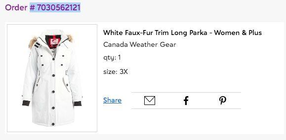 Куртка женская БОЛЬШОЙ РАЗМЕР осень-зима Канада