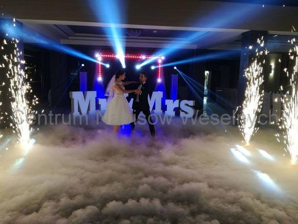 Pirotechnika sceniczna * Taniec w chmurach * Ciężki dym * Napis Love*