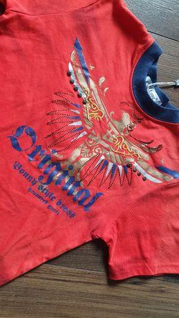 T-shirt Ch Long 122/128 Nowy