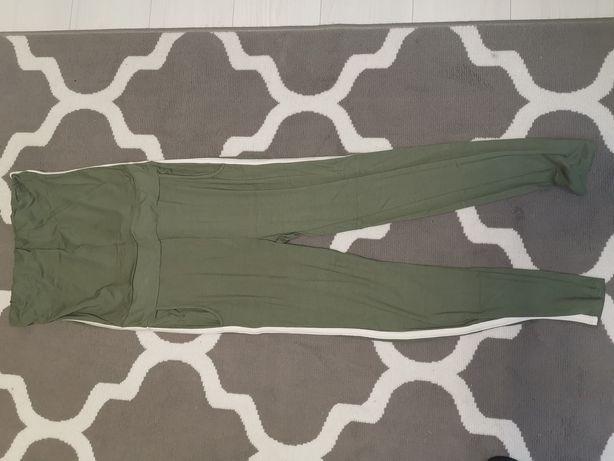 Długi kombinezon spodnie, khaki, stan idealny, rozm M