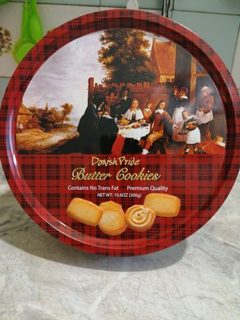 Коробка жестяная Butter Cookiers  на Подарок.