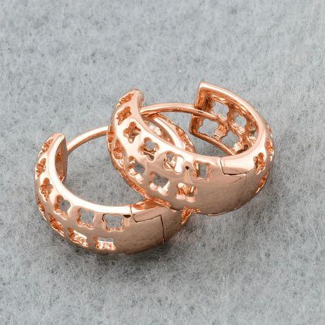Серьги Xuping позолота РО 585 сережки кульчики медицинское золото