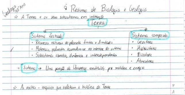 resumos completos biologia e geologia 10º e 11º