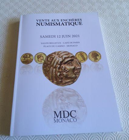 18921#Livro Leilão no Monaco Junho 2021 de moedas romanas/outras Mundo