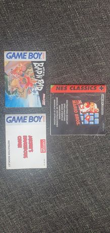 Manuais de jogos game boy