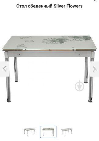 Продам стол обеденный Silver Flowers