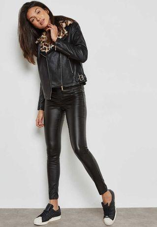 Шикарная черная куртка косуха Dorothy Perkins