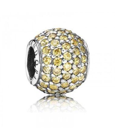 Pandora Oryginalne Golden Pave Charms 791051 Komplet