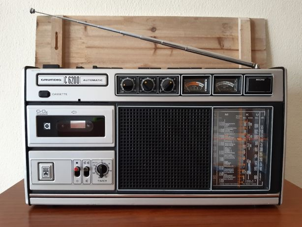 Rádio Grundig C6200 (Boombox) Anos 70
