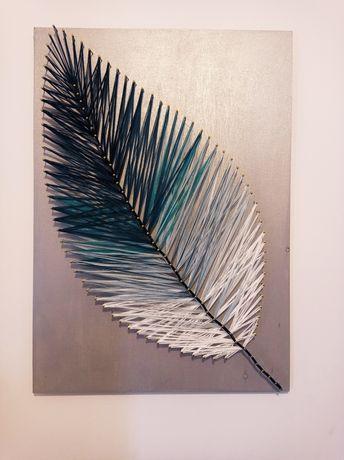 Obraz string art 34x48