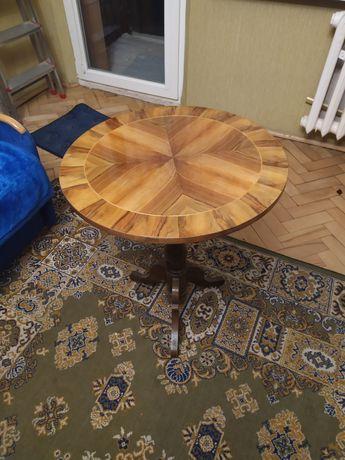 Stolik okrągły drewniany