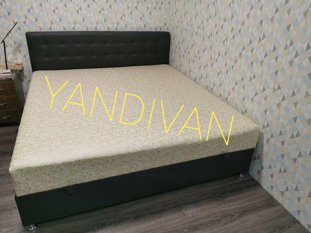 """Двухспальная Кровать """"Камила"""" в Сером цвете.Любые размеры.Любые цвета."""