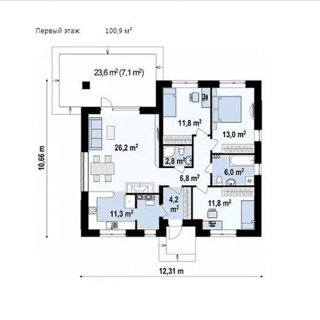 Проекты домов Одесса   Кэшбэк 40% от строительства   Проектирование