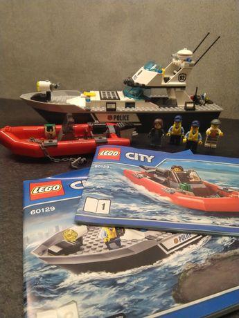Lego City 60129 Policyjna łódź patrolowa Policja łódka motorówka klock