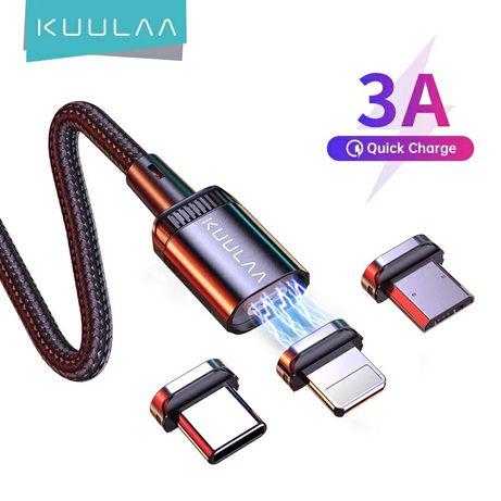 Магнитный кабель Kuulaa быстрая зарядка xiaomi iphone samsung huawei