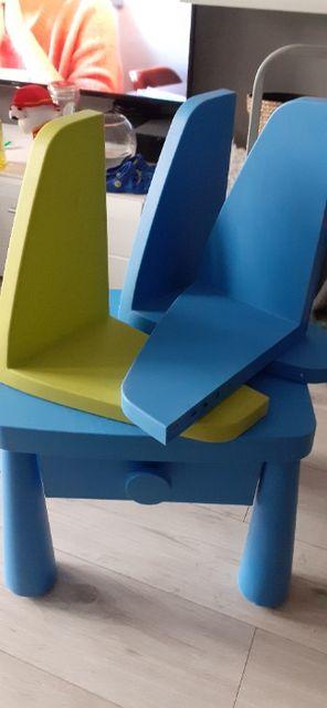 Stoliczek i półki IKEA