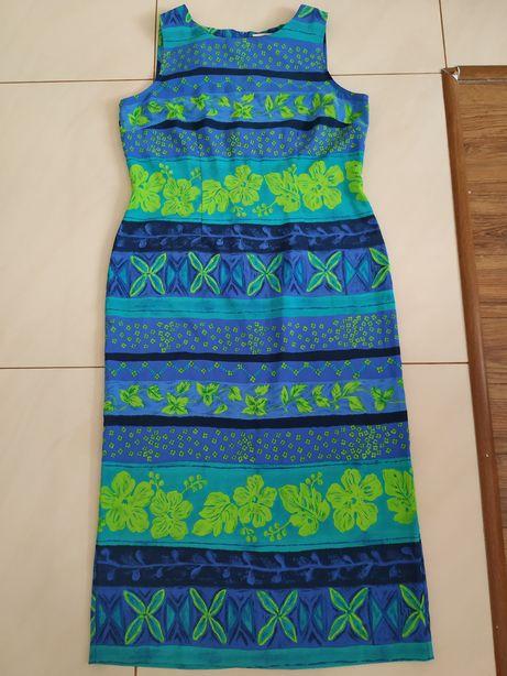 Sukienka w kwiaty XL