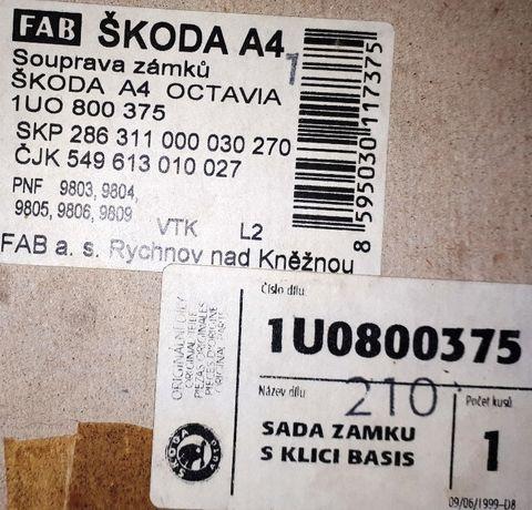 KPL kluczyków i wkładek / zamków Skoda Octavia, Fabia.