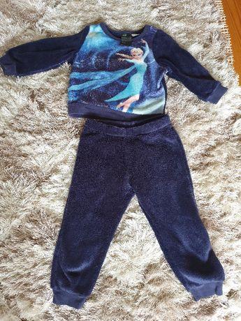 Dresik H&M dla dziewczynki (spodenki i bluza) Kraina Lodu r. 92