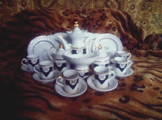 Набор на 6 персон с пегасом из 22 предметов. СССР