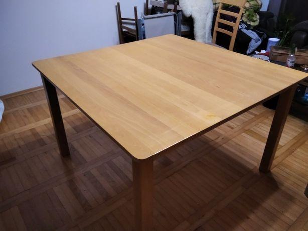 Stół bukowy z 4 krzesłami