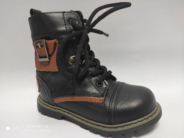 Зимние кожаные сапоги ботинки на овчине для мальчика бренда tiflani