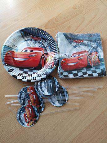 Zygzag McQueen Auta zestaw urodzinowy talerzyki serwetki słomki