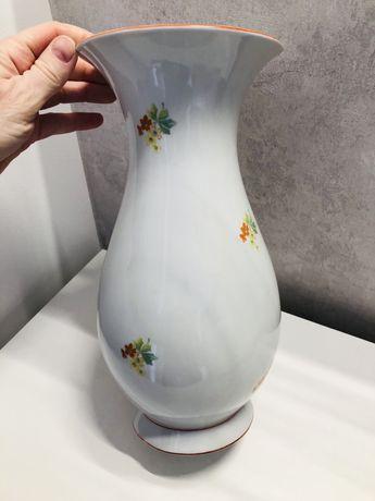 Weiswasser piekny duzy wazon bialy w male kwiatki Niemcy 25 cm