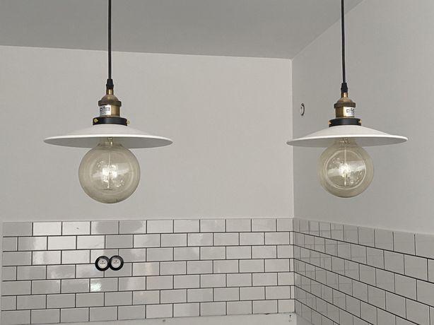 Dwie wiszące lampy, loft, retro