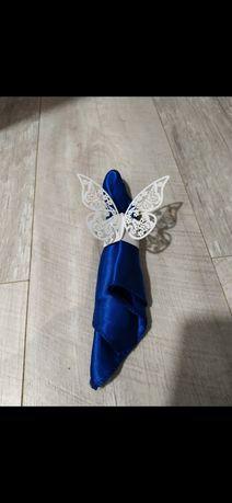 Serwetki satynowe dekoracyjne bieżnik ozdoby ślubne 80 szt
