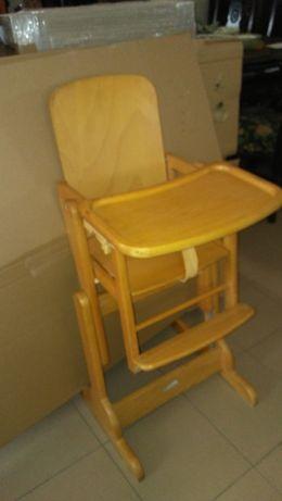 Fotelik do karmienia, dziecięcy, drewniany.