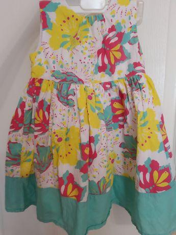 Нарядное летнее платье на девочку 1-2 года