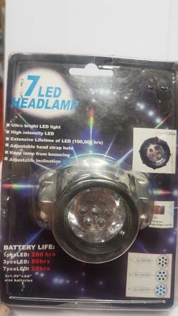 Latarka czołowa LED/Headlight 7 diod LED