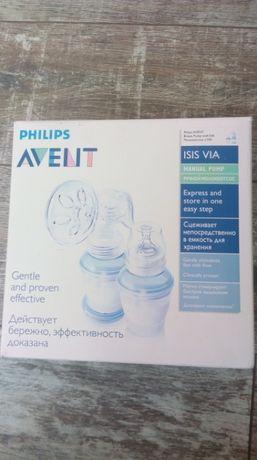 Молокоотсос Avent Philips с контейнерами для хранения молока 4 шт.