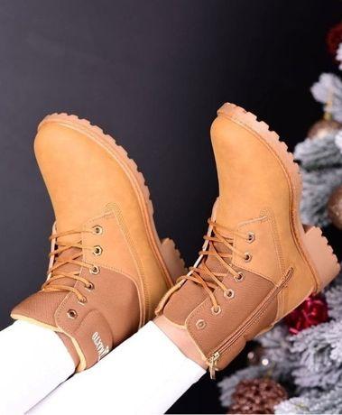 Женские ботинки нубук на меху 36-41 р (зима- всена-сень)