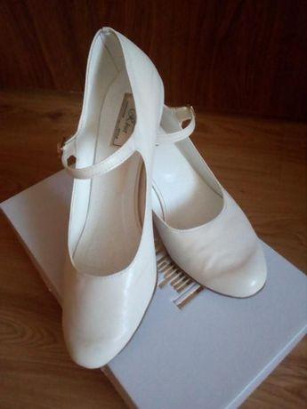 buty ślubne ecru 39